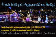 Božične lučke lučke pri Hozjanovih